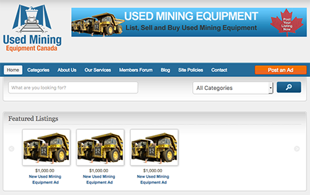 Used mining Equipment Canada