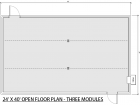 24X40 Blast Resistant Open Floor Plan
